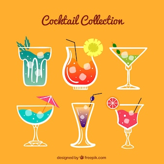 Pack of hand-drawn cool drinks