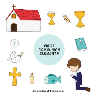 Pack of hand drawn first communion items