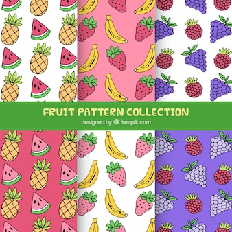Pack of hand-drawn fruit patterns