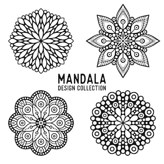 Pack of hand drawn mandala ornaments