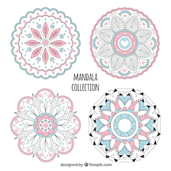 Pack of hand drawn mandalas