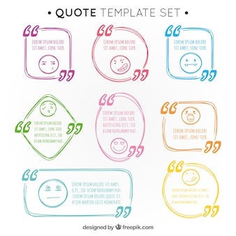 Pack of hand drawn quotations