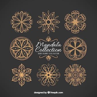 Pack of hand-drawn vintage mandalas