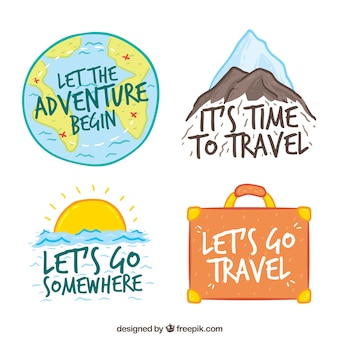 Pack of hand painted adventure stickers