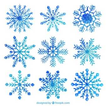 Pack of hand painted snowflakes