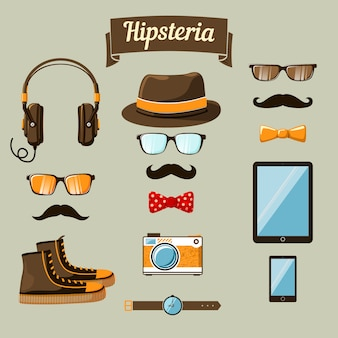 Pack of hipster items
