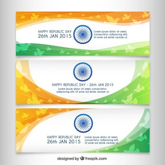Pack of indian republic day banners