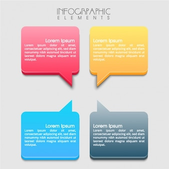 Pack of infographic banners with speech bubble-shaped