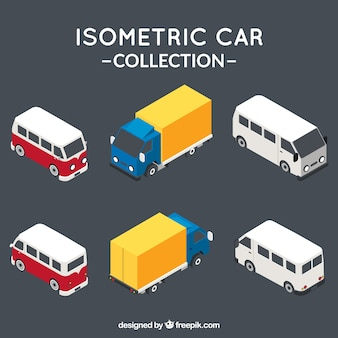 Pack of isometric vehicles