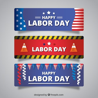 Pack of labor day banners