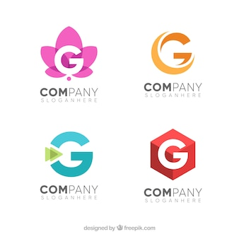 手紙gのロゴのパック