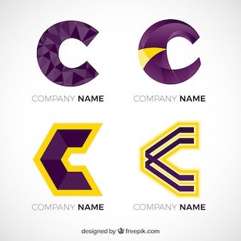 Pack of letter logos  c