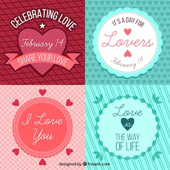 Pack of love cards with cute messages