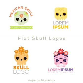 Pack of mexican skull logos