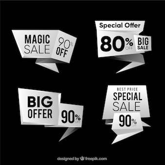 Pack of modern discount banners