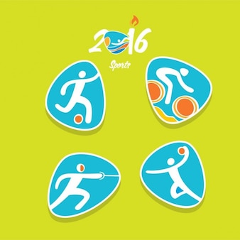 Pack of modern olympic sports