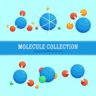 Pack of molecule structures