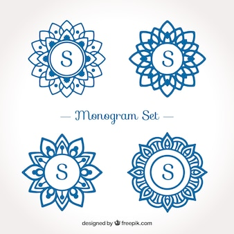 Pack of monograms logos with the letter  s