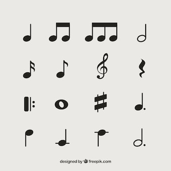 Pack of musical notes