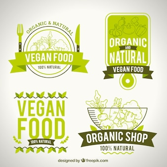 Pack of natural food logotypes