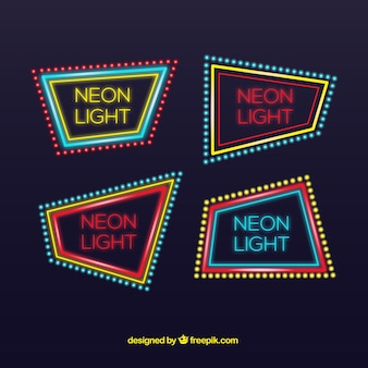 Pack of neon posters