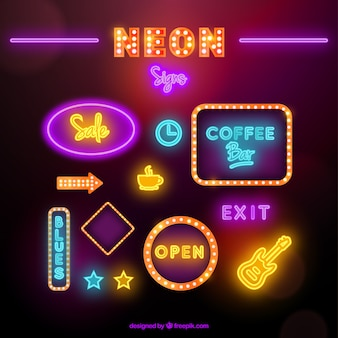 Pack of neon signs