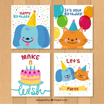Pack of nice birthday cards