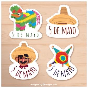 Pack of nice cinco de mayo stickers