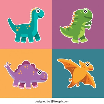 Pack of nice dinosaur labels