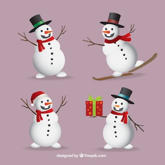 Pack of nice snowmen