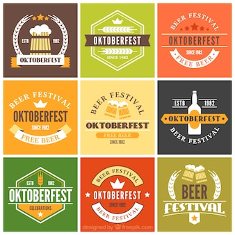 Pack of oktoberfest decorative badges