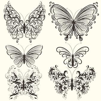Pack of ornamental butterflies