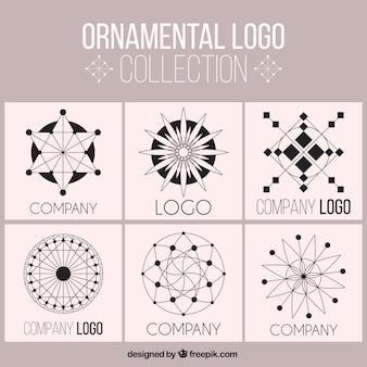 Pack of ornamental logos