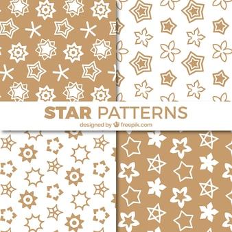 Pack of ornamental stars in vintage style