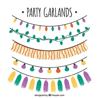 Pack of party garlands and string lights