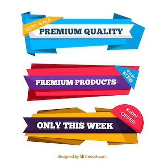 Pack of premium origami banners