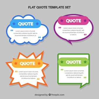 Pack of quote templates