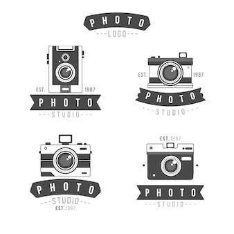 Pack of retro camera logos