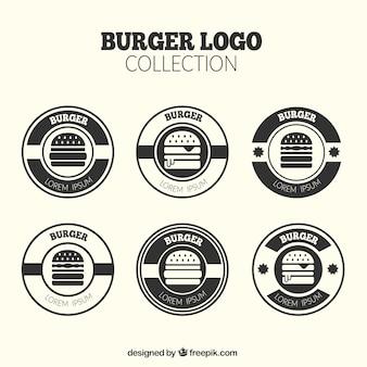 Pack of round burger logos
