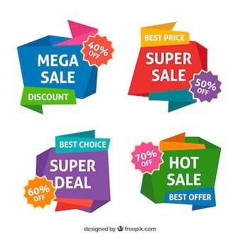 Pack of sale origami banners