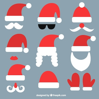 Pack of santa claus elements