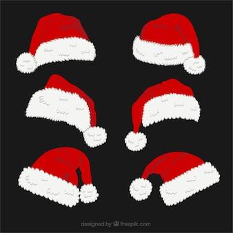 Pack of santa claus hats