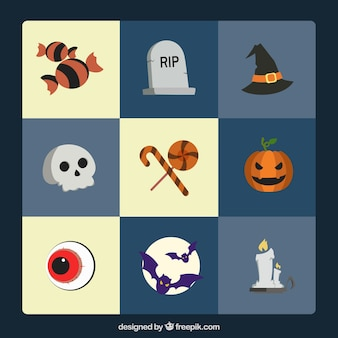 Pack of six halloween items