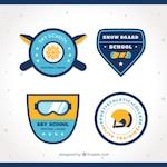 Pack of ski school badges