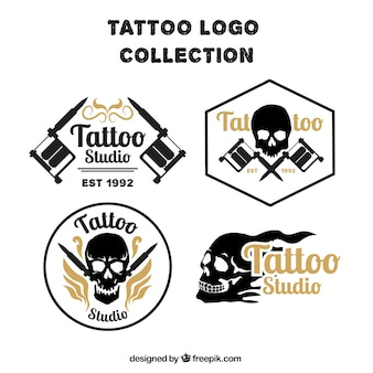 Pack of skull tattoos logos