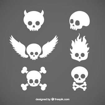 Pack of skulls with shapes