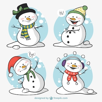 Pack of snowman characters