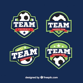 Pack of soccer stickers