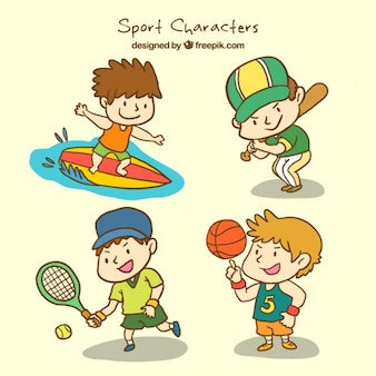 Pack of sport characters