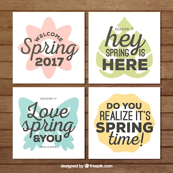 Pack of spring cards with messages